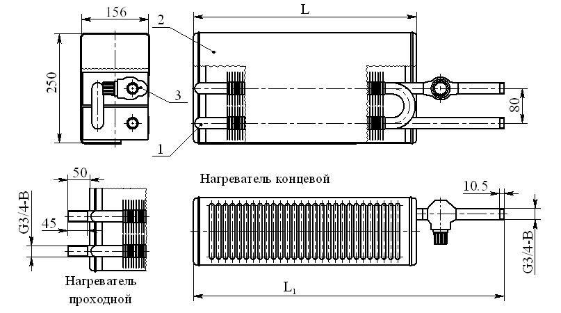 Конвектор «Универсал КНУ-С М Авто» КСК-20 (на прямом участке трубы)