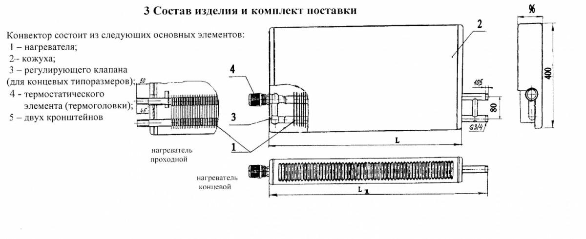 Конвектор «Универсал М Авто» КСК-20