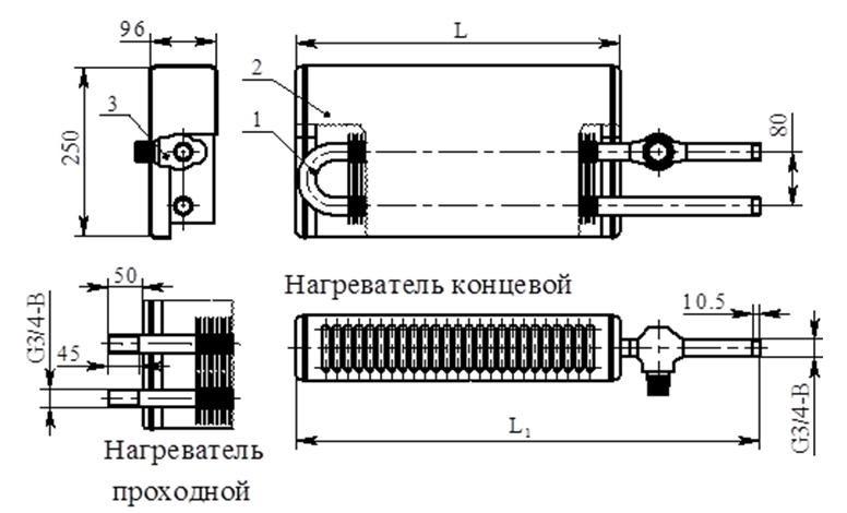 Конвектор «Универсал КНУ М Авто» КСК-20 (на прямом участке трубы)