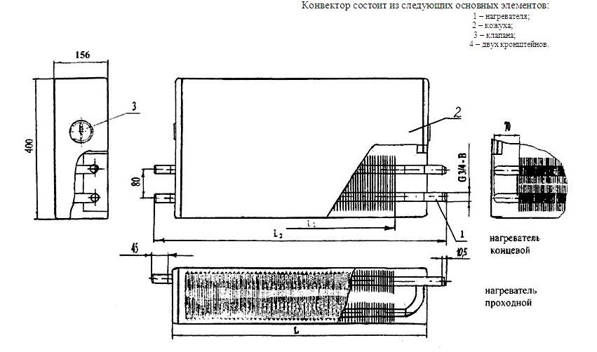 Конвектор «Универсал КНУ - С» КСК-20